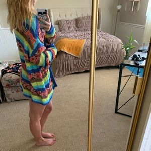 Colorful Knit Boho Sweater